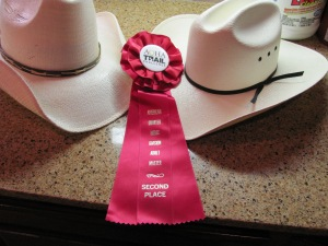 AQHA Trail Challenge Second Place Ribbon